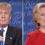Trump and clinton debate on twitter